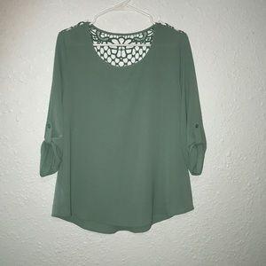 Papaya teal blouse